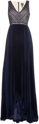 Adrianna Papell Pleated full length dress