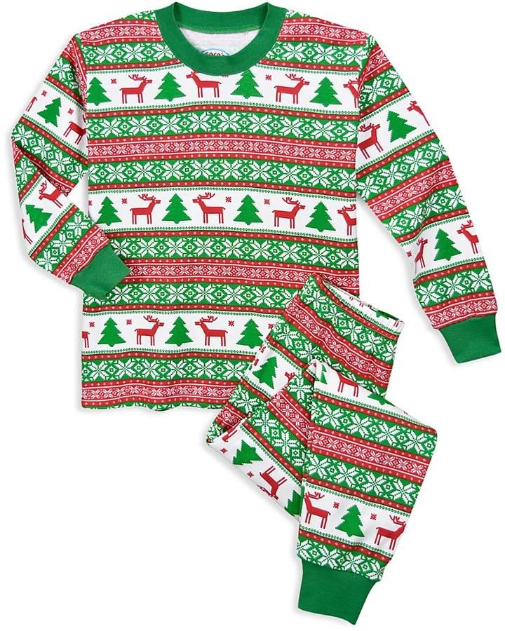 Unisex Fair IslePrint Holiday Pajama Set - Little Kid
