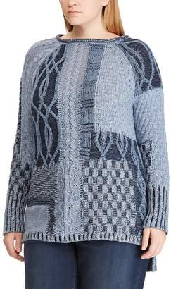 Chaps Plus Size Leaf Stitch Sweater