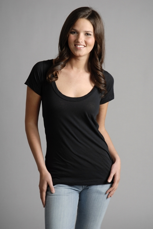 LnA Deep Scoop Short Sleeve T-shirt