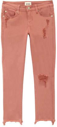 Hudson Wren Distressed Chewed-Hem Skinny Jeans, Size 7-16