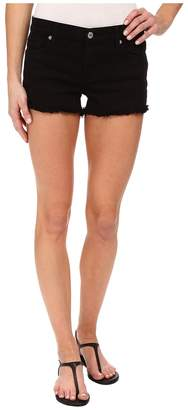 7 For All Mankind Cut Off Shorts in Black Women's Shorts