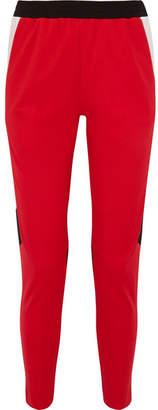 Koché - Color-block Satin-jersey Slim-leg Pants - Red