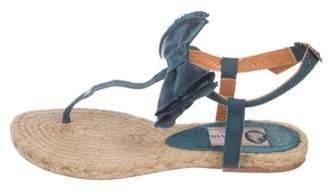 Lanvin Woven Thong Sandals