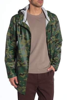 Stutterheim Stockholm Camouflage Hooded Lightweight Waterproof Rain Jacket