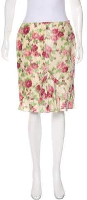 Christian Dior Floral Knee-Length Skirt