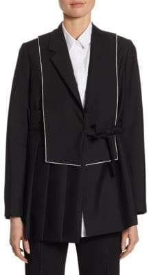 Jil Sander Wool-Mohair Pleated Jacket