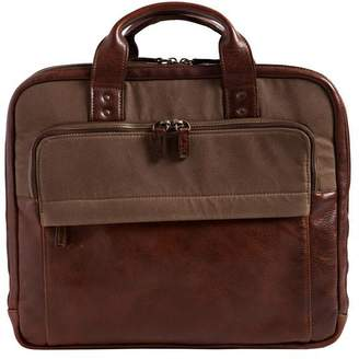 "Moore & Giles Fine Leather Slim Modern Briefcase ""Jay"""