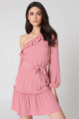 Na Kd Boho Slip Shoulder Balloon Sleeve Dress