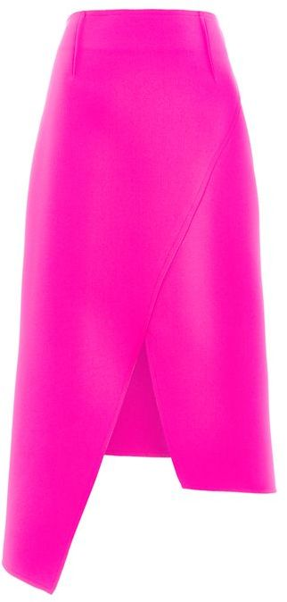 Topshop Topshop High waisted midi wrap skirt