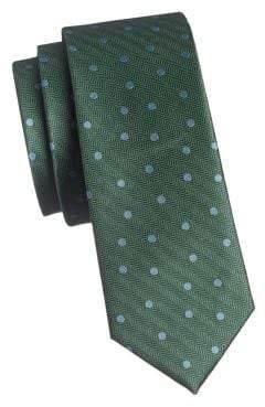 The Tie Bar Textured Dotted Silk Slim Tie