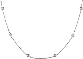 Diamond Select Cuts 14K 0.50 Ct. Tw. Diamond Station Necklace