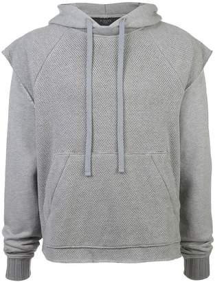 Amiri double layer mesh hoodie