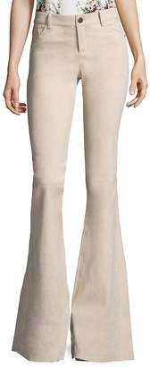 Alice + Olivia Women's Suede Bell Flared Pants
