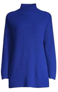 Eileen Fisher Funnelneck Cashmere Sweater