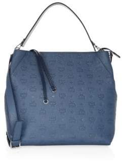 MCM Medium Klara Monogrammed Leather Hobo Bag