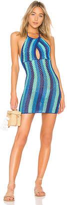 Lovers + Friends Blues Crochet Dress