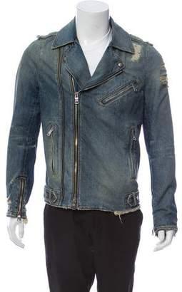 Balmain Double Rider Denim Jacket