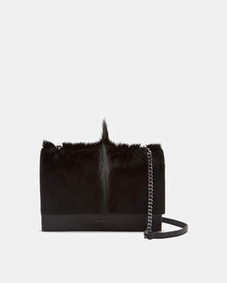 Ted Baker HETTHER Springbok leather concertina cross body bag
