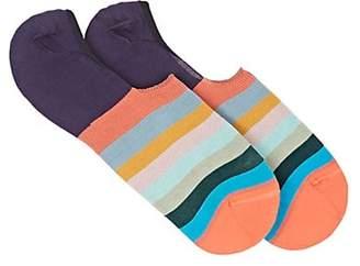 d9f46770a7c1ff Paul Smith Men's Artist Cotton-Blend No-Show Socks - Orange
