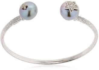 Carolina Bucci Pearl White Gold Bangle Bracelet