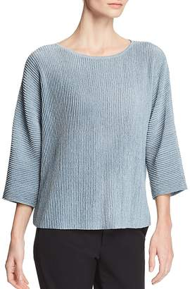 Eileen Fisher Petites Dolman-Sleeve Ribbed Top