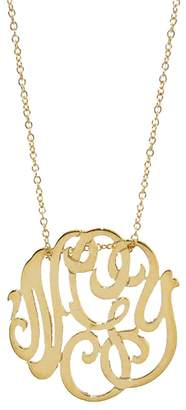 ginette_ny Mini Lace Monogram Necklace - Yellow Gold
