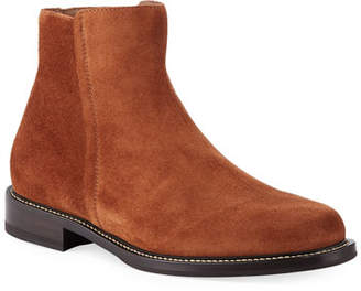 Brunello Cucinelli Men's Suede Side-Zip Boots