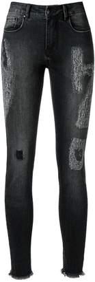 Amapô distressed crop skinny jeans