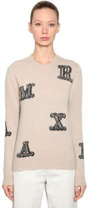 Max Mara Logo Intarsia Cashmere Sweater