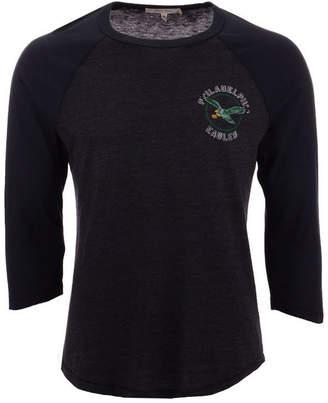 Authentic Nfl Apparel Men's Philadelphia Eagles End Around Three-Quarter Raglan T-Shirt