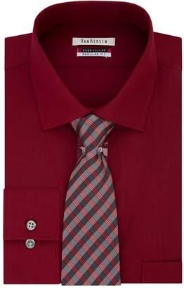 Van Heusen Men's Regular-Fit Flex Collar Dress Shirt & Tie