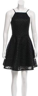 Black Halo Embroidered Mini Dress w/ Tags