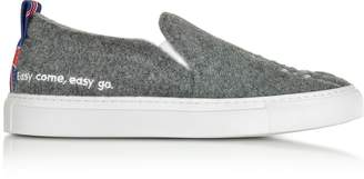Joshua Sanders Gray London Slip On Sneakers