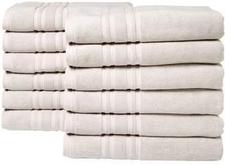Melange Home Turkish Cotton Bath Towels (Set of 12)