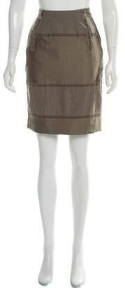Etro Velvet-Trimmed Knee-Length Skirt