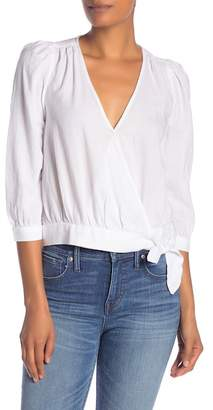 Madewell Solid Surplice Wrap Blouse