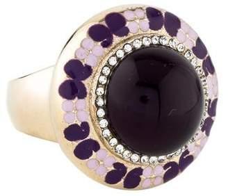 Etro Crystal & Enamel Cocktail Ring