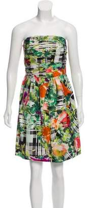 Oscar de la Renta Strapless Floral Dress w/ Tags