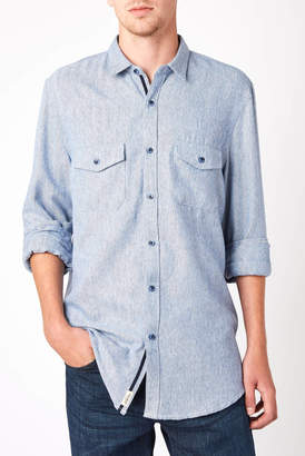 Civil Society Junior Herringbone Long Sleeve Button Down Shirt