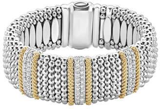 Lagos Diamond Lux Caviar 23mm Three-Station Bracelet