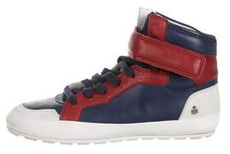 Etoile Isabel Marant Round-Toe High-Top Sneakers