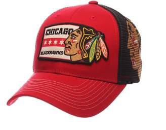 Zephyr Adult Chicago Blackhawks Interstate Snapback Cap