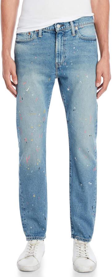 Levi's 510 Skinny Fit Paint-Splattered Jeans