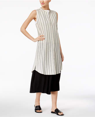 Eileen Fisher Striped Tunic Dress $278 thestylecure.com