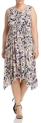 Nic+Zoe Plus Plus Petal or Nothing Shirred Dress
