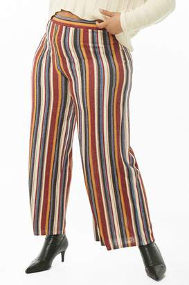 f3779b8e66d Forever 21 Plus Size Striped High-Waist Palazzo Pants