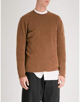 Isabel Benenato Crewneck wool-blend jumper