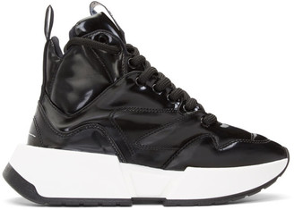 MM6 MAISON MARGIELA Black Padded High-Top Sneakers