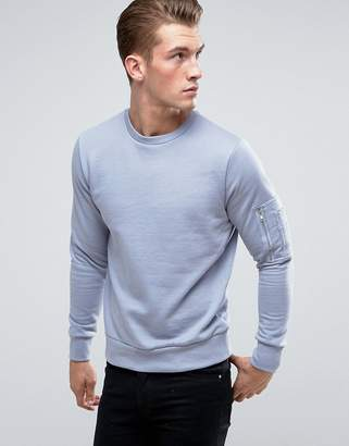 Brave Soul Crew Neck Military Sweater